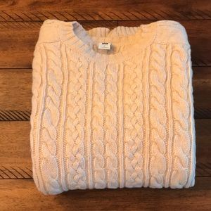 Gap Factory 100% Lambswool Cable Knit Sweater L